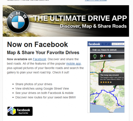 The Ultimate Drive App Email Announcement to iOS users